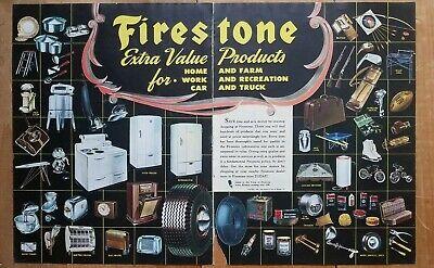 Firestone Magazine Ad Sale Overall Discount 50-70% Firestone Applliance Ad Vintag Firestone 2 Page Ad