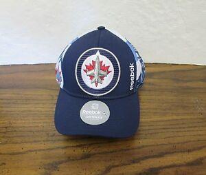 c2eb122dfe9 NEW NHL WINNIPEG JETS MEN S EMBROIDERED REEBOK ADJUSTABLE CAP HAT ...