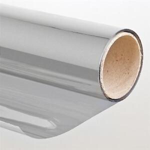 Pellicola solare adesiva per vetri effetto specchio 75 x 300cm argento oscurante ebay - Pellicola specchio vetri ...