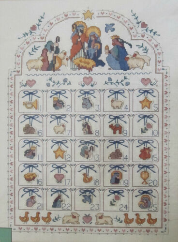 Blessed Nativity Advent Calendar Counted Cross Stitch Kit 8416 from Dimensions