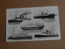 Postcard Shipping Channel Island steamers multiview  unposted.