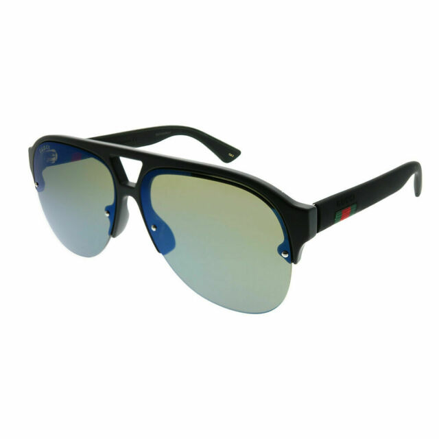 d5ac9c73524f9 Unisex Gucci Sunglasses Gg0170s 002 Black Blue Aviator for sale ...