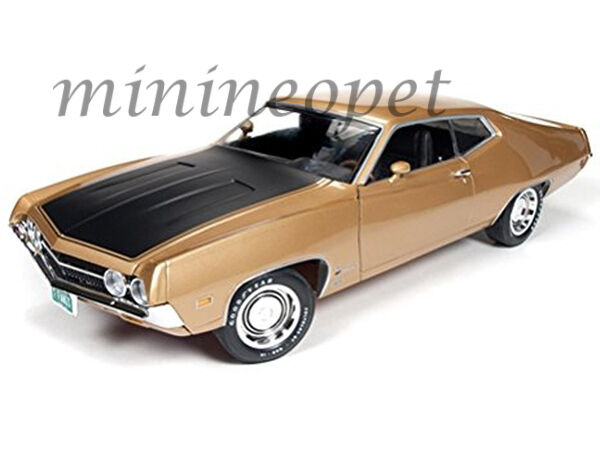 Autoworld amm1039 1970 70 ford torino cobra 427 4v 1   18 ein diecast modell auto Gold
