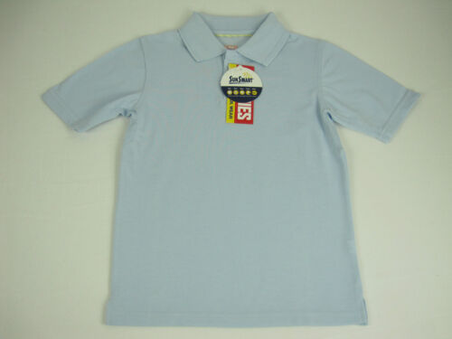 Stubbies Children Kids School Wear Short Sleeve Polo Shirt sz 4 Colour Sky