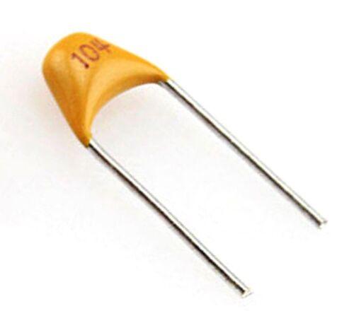 Lot 5x condensateur céramique 50V type 104 0,1uF Monolithic Ceramic Capacitor