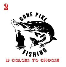 Pike Fishing Vinyl Stickers decals,car,window,van, Laptop (REF NO 2)CAR, VAN