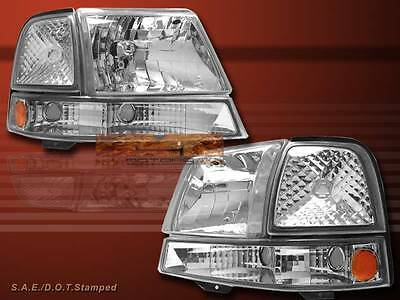 1998 1999 2000 FORD RANGER CLEAR HEADLIGHTS & CLEAR CORNER SIGNAL LIGHTS COMBO