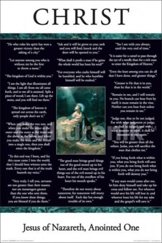 RELIGIOUS POSTER In Their Words Jesus Christ