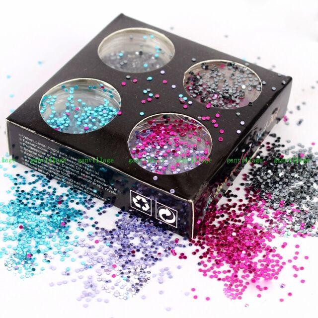 4pcs/set Shiny Decorate Paillettes Sequins DIY Manicure Colorful Round Shape New