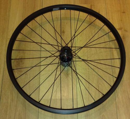 """29/"""" 700c Ryde Andra 40 Disc Rim 100mm QR Black Novatec D791SB Hub Front Wheel"""