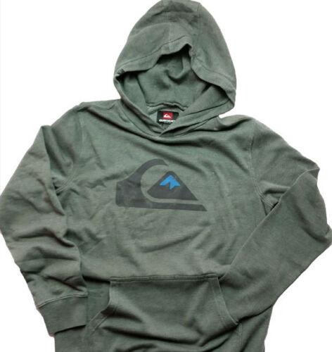 NWT Quiksilver Rooney Hooded Sweatshirt Long Sleeve  Gunmetal Gray  Medium   P02