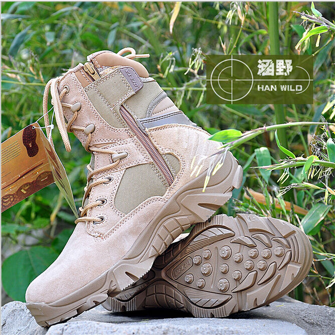 New Mens Military Army Lace Up Ankle Boots Tactical Combat High Top Zip Shoes SZ