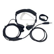 Taxi Medical Acoustic Tube Two Way Radio Headphone Inline PTT for Yaesu Vertex