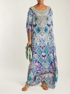 new-CAMILLA-FRANKS-SILK-SWAROVSKI-THE-BLUE-MARKET-ROUND-NECK-KAFTAN-DRESS-layby