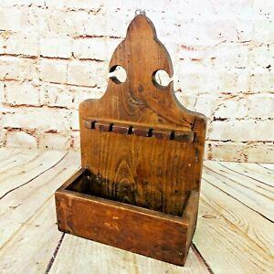 Vtg-Souvenir-Collectable-Spoon-Display-Holder-wood-13-034-H-x-8-034