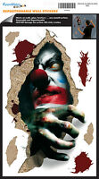 Evil Clown Wall Decals Halloween Party Decor Room Decor Stickers Decorations