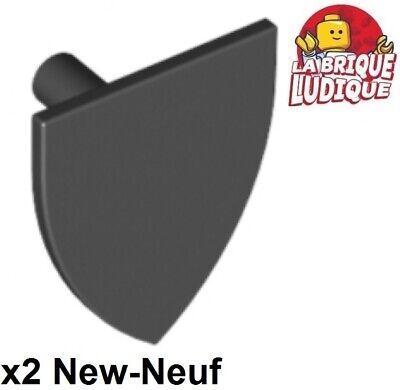 Lego 1x Minifig shield bouclier lion or gris//light bluish gray 3846pb27 NEUF