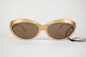 Vintage-Paloma-Picasso-8866-878-54-16-Gold-Oval-Sunglasses-NOS