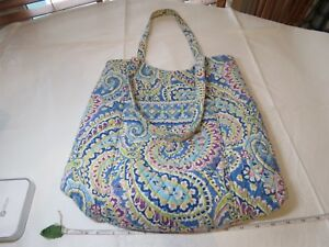 37acd5afe0b4 Capri Blue Vintage Vera Bradley tote purse shoulder bag retired RARE ...