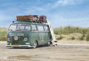 vw camper van poster 2 (sizes-a5-a4-a3-a2) + free surprise a3, Powerpoint templates
