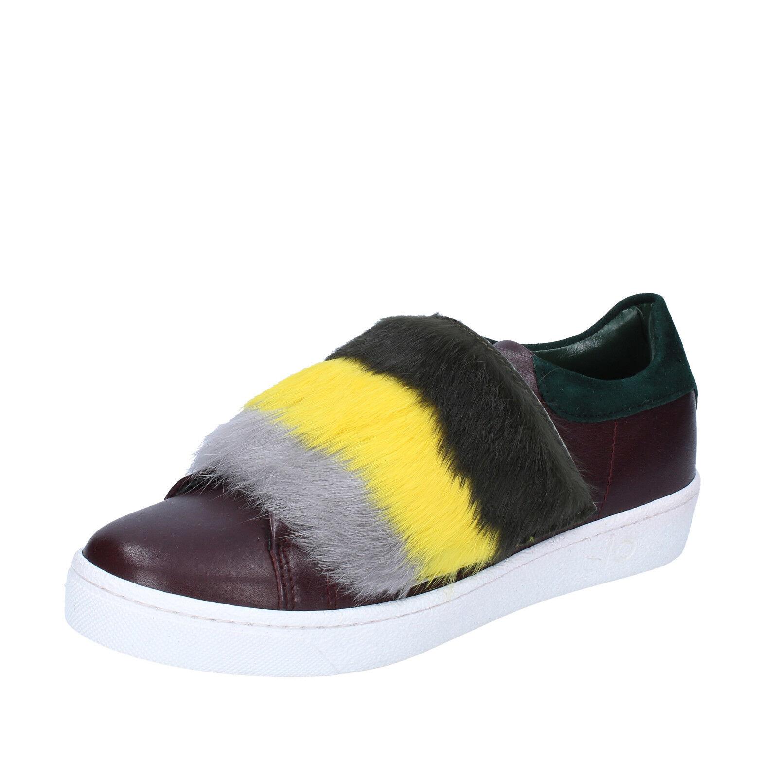 scarpe donna ISLO ISABELLA bordeaux LORUSSO 37 EU sneakers bordeaux ISABELLA verde pelle BZ212-C 24d76a