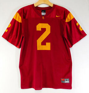 Details about NIKE TEAM USC TROJANS #2 College Football JERSEY Red Vintage YOUTH LARGE 16/18