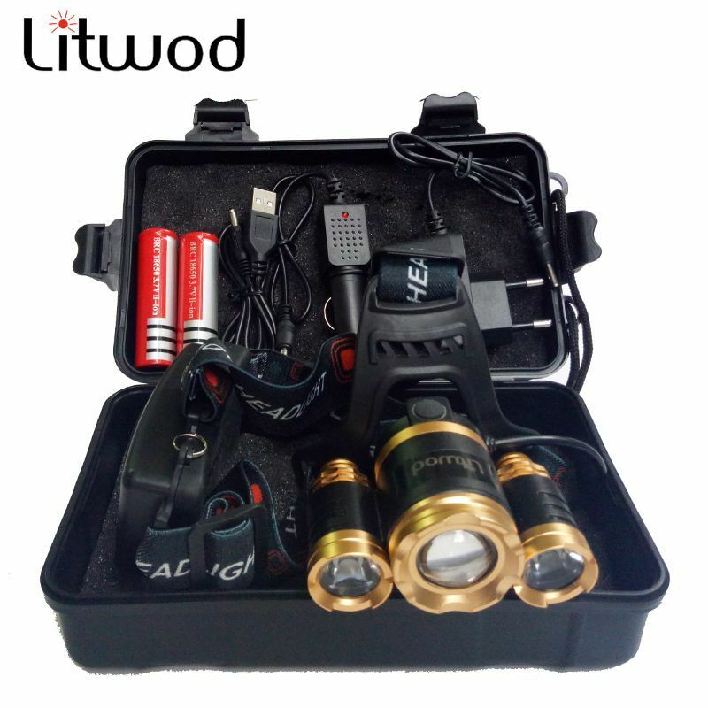 13000LM  Led T6 Headlamp Headlight Charger Rechargeable Flashlight Head Zoomable  all in high quality and low price