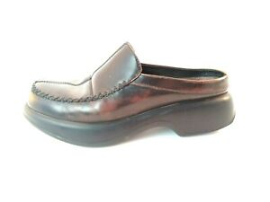 aaeded19f7bfa Details about Dansko Madigan Clogs Mules Womens 39 Brown Leather Slip On  Slide Open Back