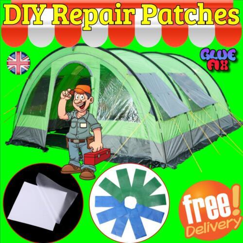 TENT REPAIR PATCH SELF ADHESIVE Tarpaulin Canvas Canopy Waterproof UK