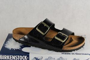 Birkenstock-Ciabatte-Sandali-Casa-Scarpe-Pantofole-Nero-Nuovo