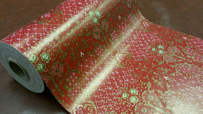 Rame complète 18 in (environ 45.72 cm) Large Doré Roses Papier Cadeau 833 FT (environ 253.90 m)