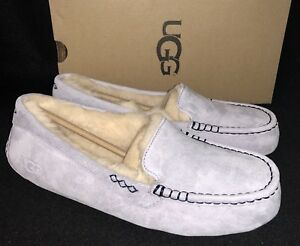 592967ce2d8 Details about UGG Australia Ansley Icelandic Blue Suede Moccasin Slippers  Slip On Shoes 3312