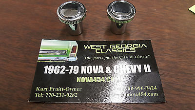 1962-1967 CHEVY II 1969-72 CHEVELLE VENT CABLE KNOBS BLACK  PAIR 2