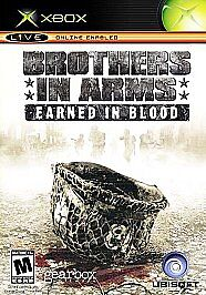 Brothers in Arms: Earned in Blood Microsoft Xbox Game With Manual Tested