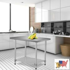 Prep Tables Work Table 24x36 Stainless Steel Commercial Kitchen Food Prep Tabl