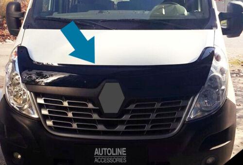 Bonnet Trim Hood Protector Bug Guard Wind Deflector To Fit Renault Master 14+