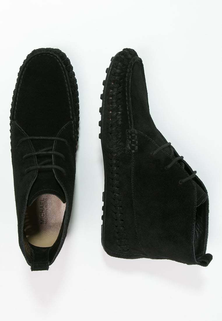 NEW  MICHAEL KORS SZ 5.5 WESTLEY BLACK MOCCASIN SUEDE ANKLE  BOOTIE BOOTS