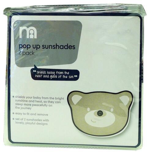 Sunshades Car Ex Mothercare Pack of 2 Pop Up Teddy Bear Sun Shades Travel