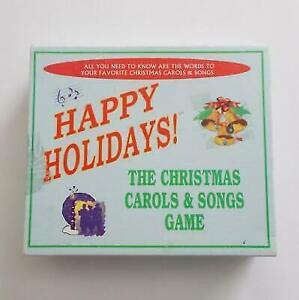 Christmas Carol Trivia.Happy Holidays The Christmas Carols And Songs Trivia Game 1999 Anton Publication