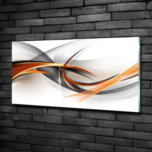 Glas-Bild Wandbilder Druck auf Glas 100x50 Deko Kunst Abstrakte Wellen