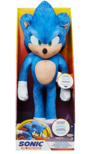 Sonic The Hedgehog Movie 13 Inch Talking Sonic Plush New IN HAND
