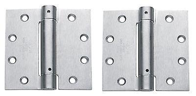 "3 pack ecco 1105 commercial spring Hinge 4.5/"" x 4 1//2/"" Door Closer US26D Satin"