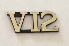 Jaguar V12 Rear Boot Trunk Badge Emblem Gold 1981 1992