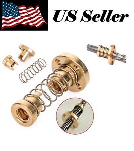 Brass Anti Backlash Nut TR8 FOR 3D Printer T8 8mm Lead Screw Rod