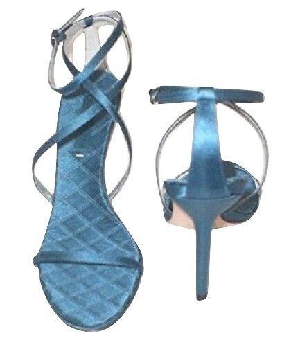 BCBGMAXAZRIA Maelle Sandale Turquoise Satin 3.75  Talons sz 9.5 Med NEW  200+