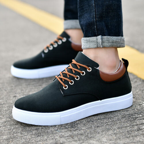 Men/'s Flats Sports Shoes Casual Breathable Low Top Sneakers Comfortable Lace Up