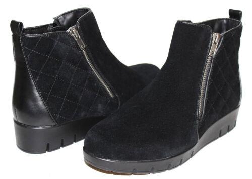 Solesenseability Women/'s Victoria Zip Up Wedge Ankle Booties Black* 86A pr NEW