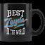 Best Zayde dans The World juif Grandfather Noir Cadeau Mug