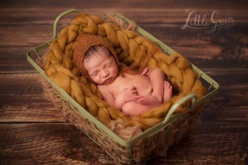 Manta de Bebé Manta Rústica Terracota recién nacido fotografía Prop Grueso
