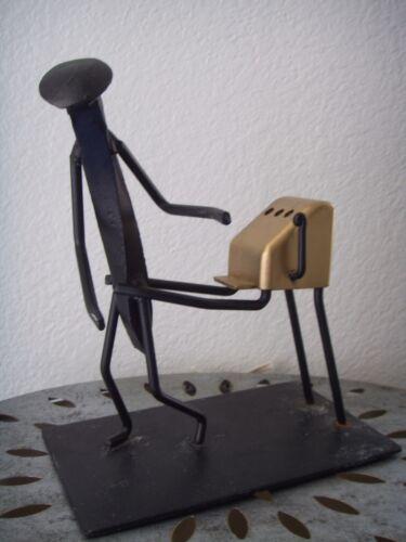 Mid Century Modern Cast Iron RAILROAD SPIKE Art Nail Sculpture Figurine Black